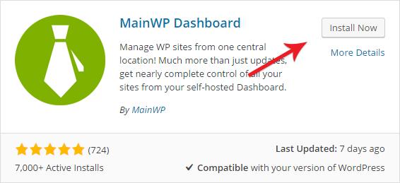 MainWP Dashboard