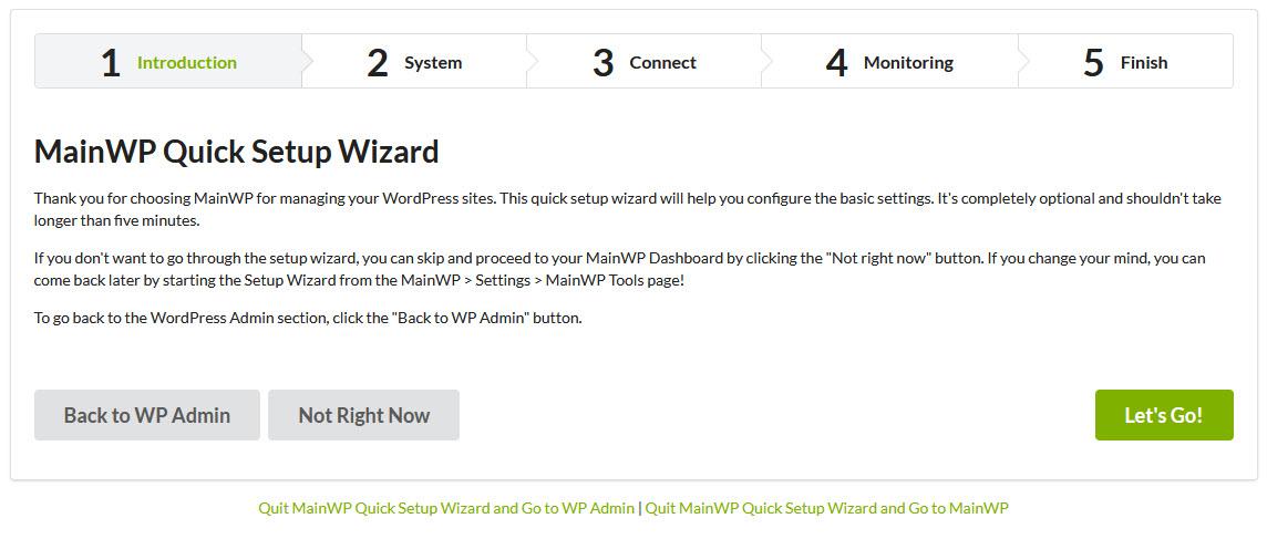 Quick Setup Wizard 1