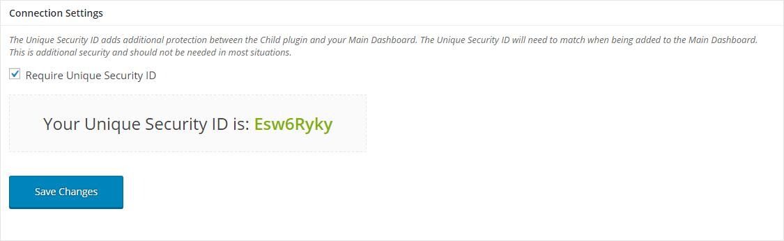 Unique Security ID