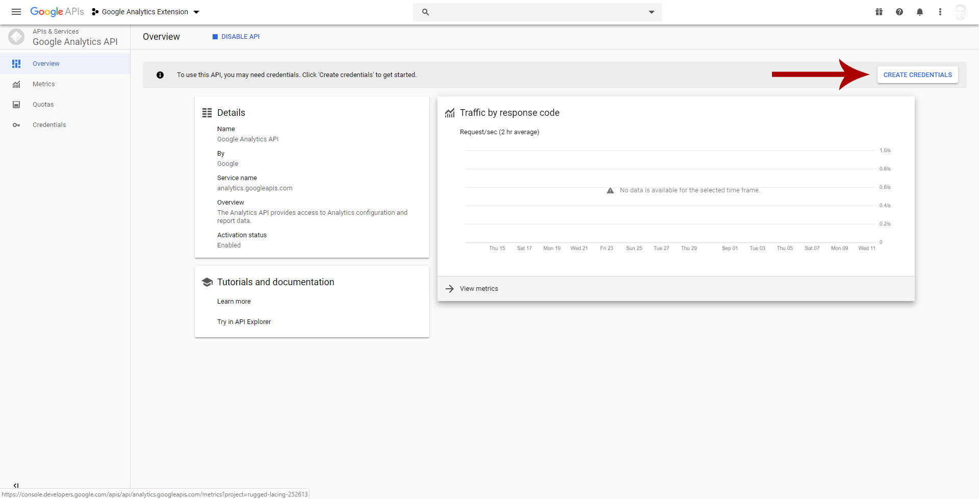 Create Google Analytics Client ID and Secret Client 7