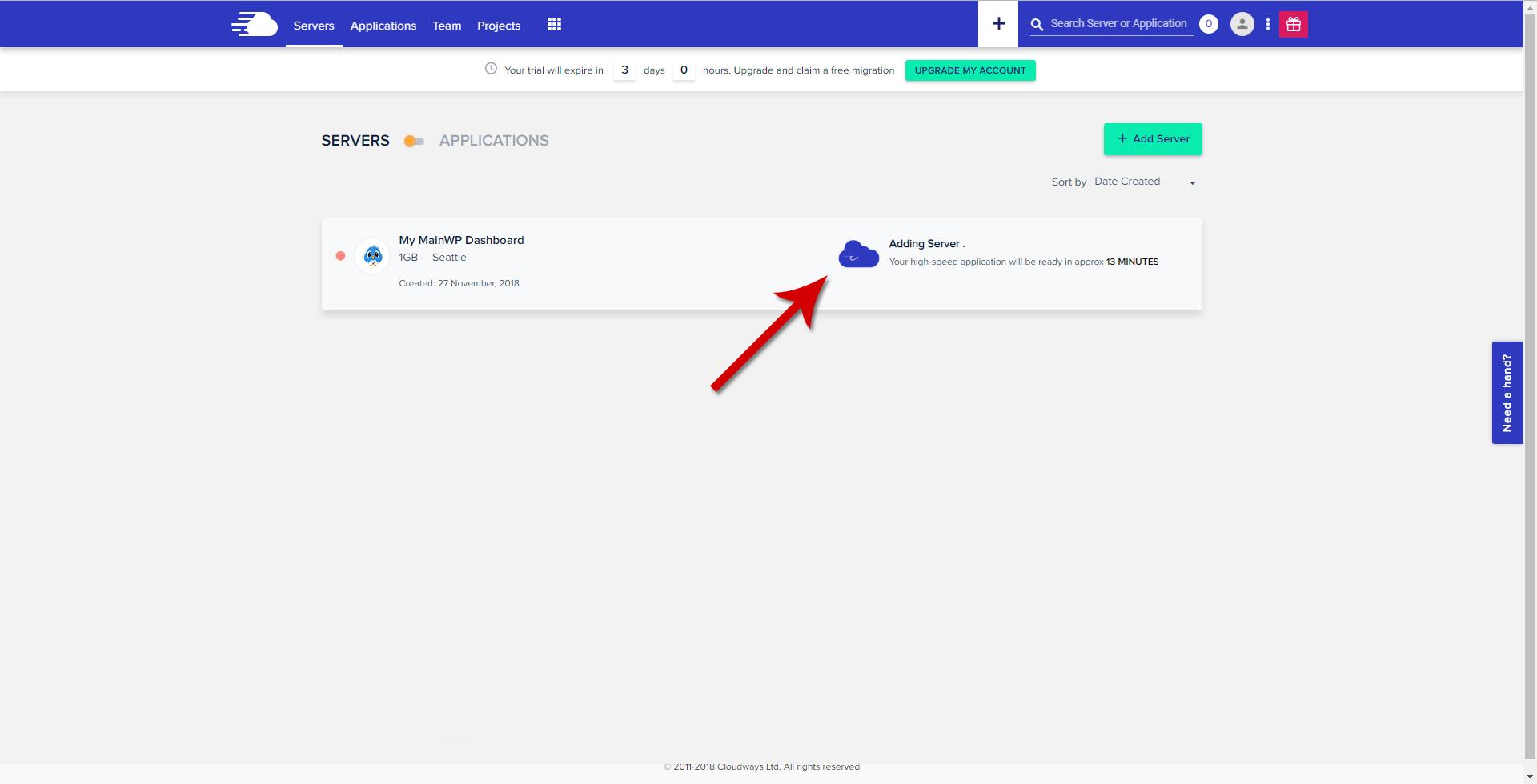 Cloudways - Crating Server