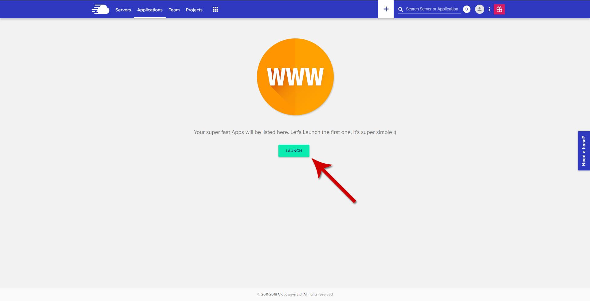 Cloudways - Launch Application